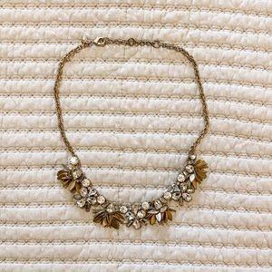 J. Crew Factory crystal bouquet statement necklace